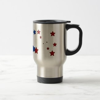 Red, blue stars Travel Mug mug
