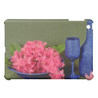 Red Blue still life flowers iPad Mini Cover