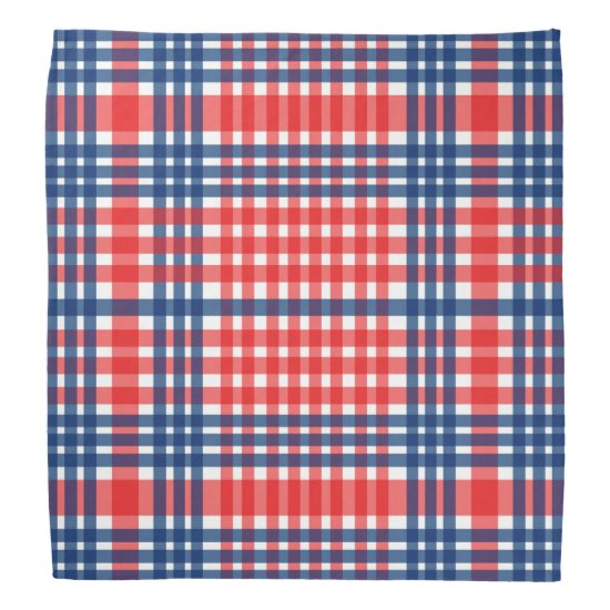 Red & Blue Stripes Patriotic Bandana