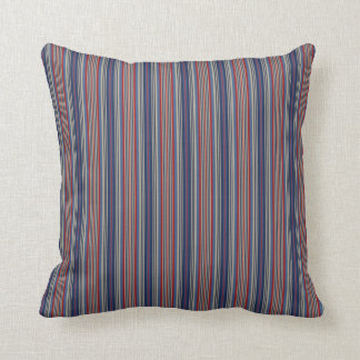 Red Blue Stripes Pillow