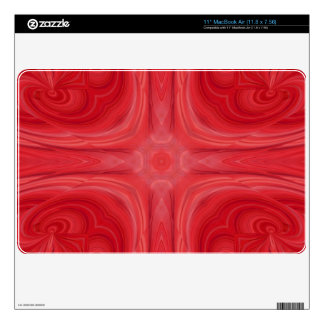 Red Blue stylish wood pattern Decals For MacBook Air