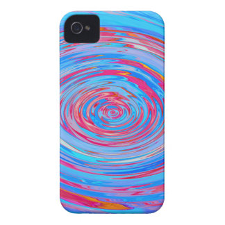 Red & Blue Swirl Case-Mate iPhone 4 Cases