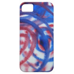 Red, Blue Swirls on Light Gray. Abstract Pattern. iPhone 5 Case