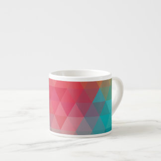 Red Blue Teal Geometric Tiangles Espresso Cup