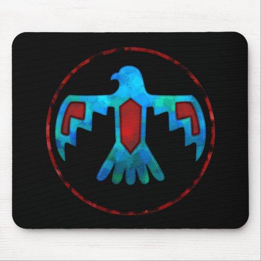 Red & Blue Thunderbird Mousepad