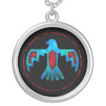 Red & Blue Thunderbird Necklace