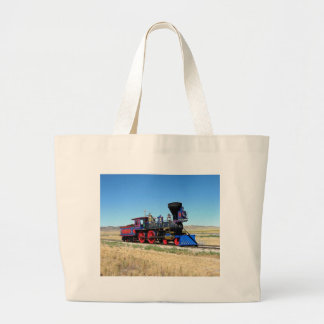 Red-Blue Train Large Tote Bag