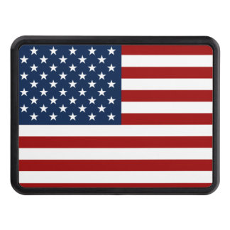 red blue USA flag Tow Hitch Covers