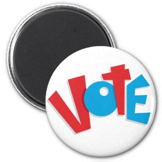 Red & Blue Vote 2 Inch Round Magnet