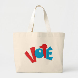 Red & Blue Vote Canvas Bag