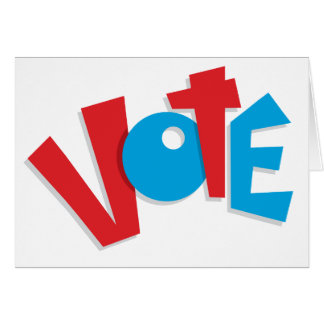 Red & Blue Vote Card