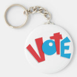 Red & Blue Vote Key Chain