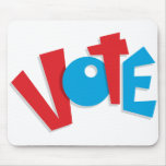 Red & Blue Vote Mouse Pad