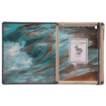 red & blue water iPad cases