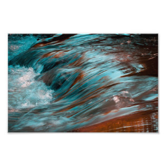 red & blue water photo print