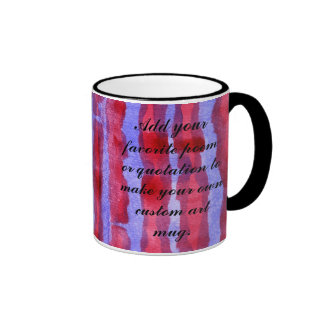 Red & Blue Watercolor Stripes Abstract Background Mugs