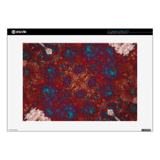 "Red Blue White Abstract Decals For 15"" Laptops"