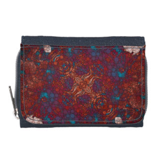 Red Blue White Abstract Wallet