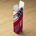 Red blue white national Patriotic background . Wine Box