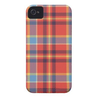 Red, blue, yellow and purple tartan iPhone 4 cases