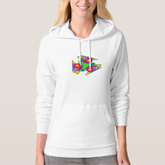 Red-Blue-Yellow-Green Bubbles Hooded Sweatshirt