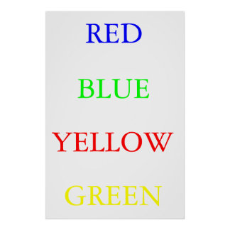 Red Blue Yellow Green Poster