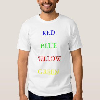 Red Blue Yellow Green T-shirts