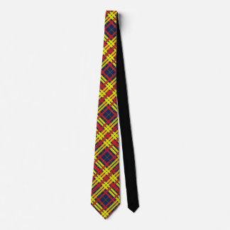 Red, Blue & Yellow Plaid Design Tie