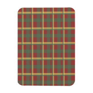 Red Blue Yellow Plaid Magnet