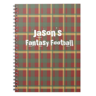 Red Blue Yellow Plaid Notebook