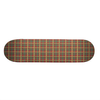 Red Blue Yellow Plaid Skateboard