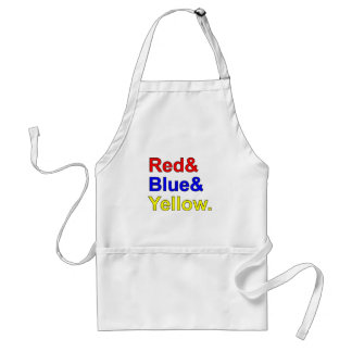Red Blue Yellow | Primary Colors Adult Apron