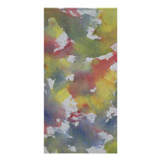 Red Blue Yellow Watercolor Card