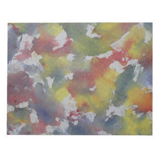 Red Blue Yellow Watercolor Notepad