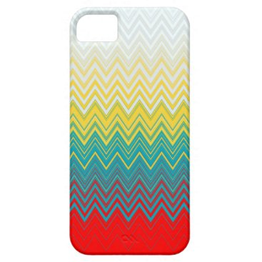 Red Blue Yellow White Zigzag iPhone SE/5/5s Case