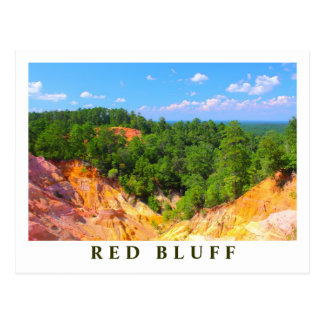 Red Bluff Landscape Overview - Mississippi scenics Postcard