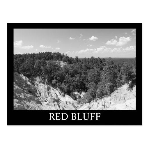 RED BLUFF - Morgantown, MS - Black White postcard