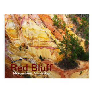 Red Bluff on Highway 587 Postcard