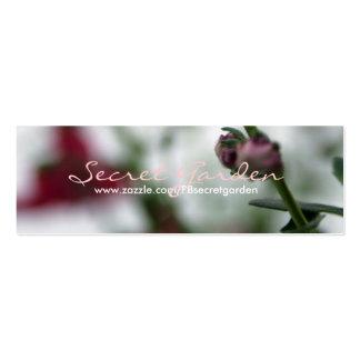 Red Blur - Diascia - Floral Photography 1 Mini Business Card