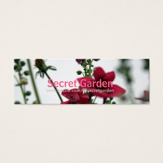 Red Blur - DIascia - Floral Photography 2 Mini Business Card
