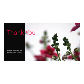 Red blur - Floral Photography Custom Photo Card