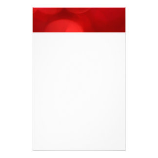 Red Blurred Lights Stationery Paper