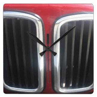 Red BMW Twin Kidneys Grill Wall Clocks