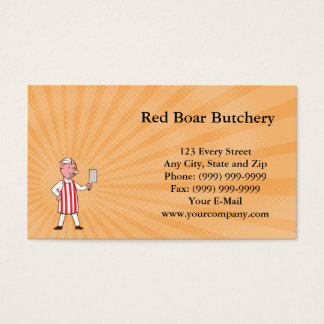 Red Boar Butchery Business card