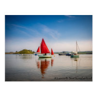 Red Boat At Alnmouth, Northumberland Postage Stamp