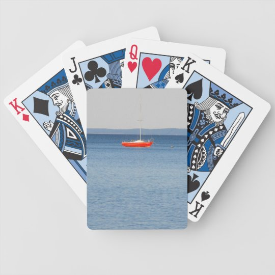 Red Boat Bicycle Playing Cards