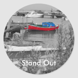 Red Boat, Stand Out Classic Round Sticker