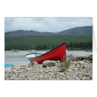 Red Boat Waiting Greeting Card
