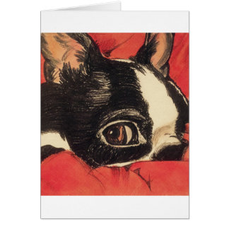Red Boaton Close up Greeting Card