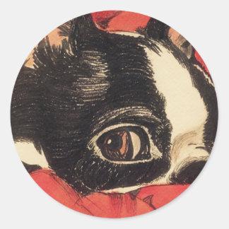 Red Boaton Close up Round Sticker